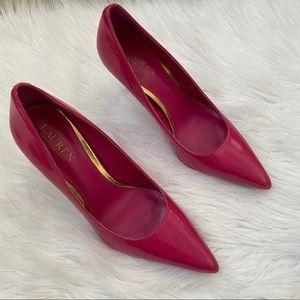 Ralph Lauren pink patent leather pumps 8.5